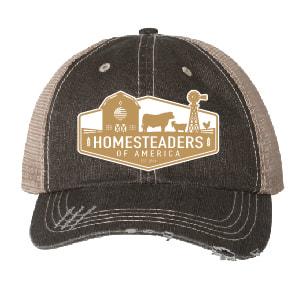 Homesteaders of America Trucker Cap (Grey/Brown)