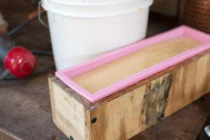 soap batter in mold