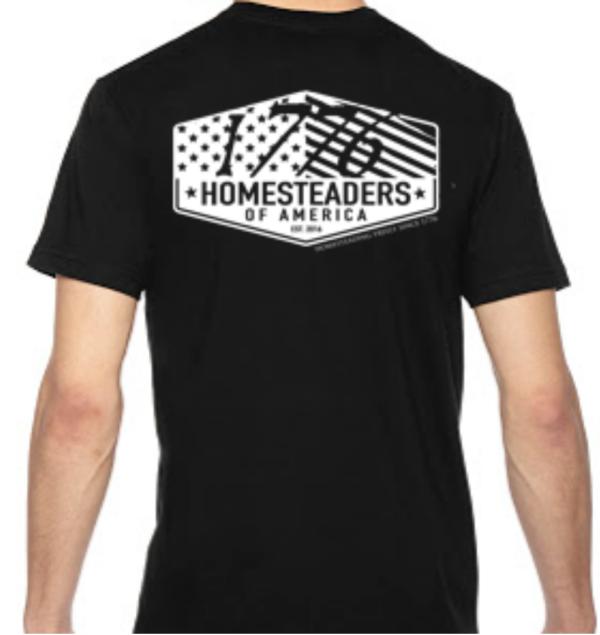 1776 Homesteading T Shirt Back