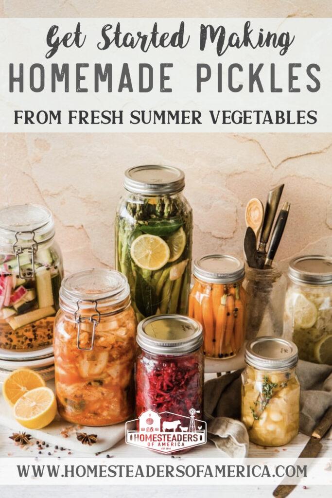 Basic Pickles Recipes: Homemade Pickles from Summertime Garden Vegetables