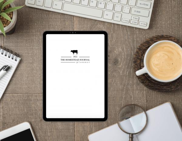 The Homestead Journal Planner 2022 Digital Download